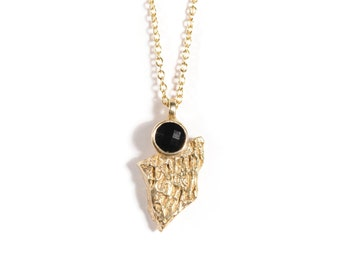 Eye of the Leader Necklace | Bronze and Black Onyx Necklace