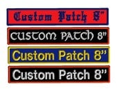 Custom Embroidered Rectangle Name Patch Iron on Customized Personalized Tags Biker Motorcycle MC Club Badge Vest Back Patch Velcro Option