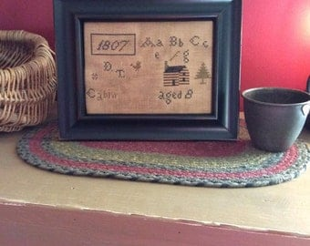 Primitive Cabin Sampler Cross Stitch