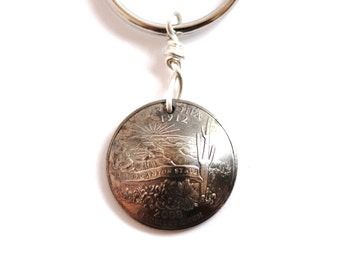 Key Ring, Arizona, Grand Canyon, U.S. State Quarter Dollar Coin, Keychain 2008, Key Fob by Hendywood