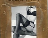 new 2 Pair Thigh High Stockings- Cream- Glamour Sheers Victoria's Secret- Sexy Bridal Wedding Trousseau- Luxurious Sheer Hosiery - 1990s 90s