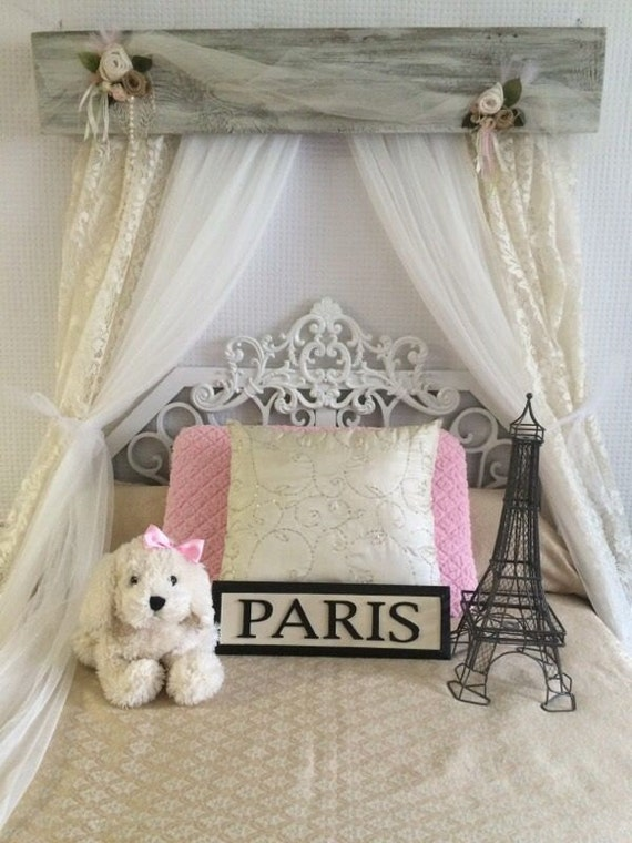 Crib canopy shabby chic bed baby rustic victorian design barn for Burlap and lace bedroom