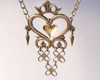 Crowned Heart Solje // Norwegian Antique