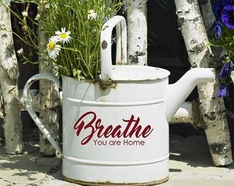 Breathe You are Home Vinyl Decal, Welcome home vinyl decal words, Home quotes, entrance decor, vinyl lettering, Stickers, door decals