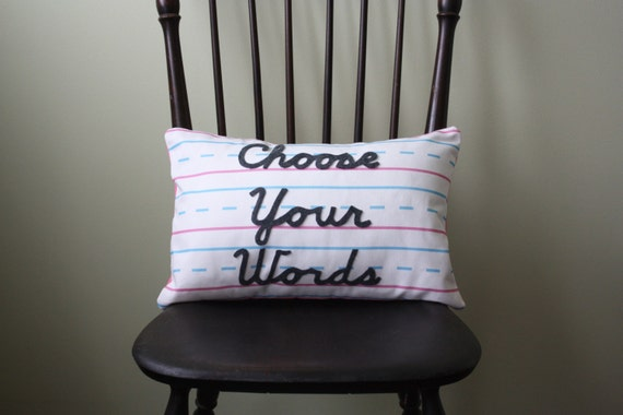 Penmanship Pillows - Create Your Own // Handwriting // Teacher Gift // School // First Second Grade // Paper // Personalized // Classroom