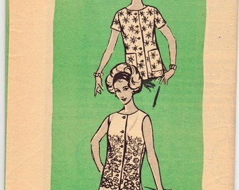 "Vintage Sewing Pattern 1960's Misses Blouses Anne Adams 4558 34"" Bust- Free Pattern Grading E-book Included"