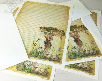 Fairy Stationery Paper - Stationery Paper Set - Stationery Set - Writing Paper - Stationary Paper - Whimsical Art - Woodland Paper - Faeries