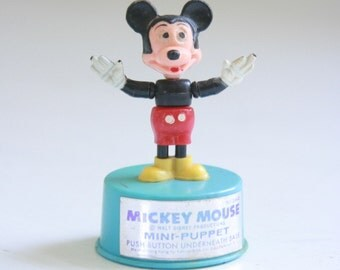 Vintage Mickey Mouse mini puppet toy