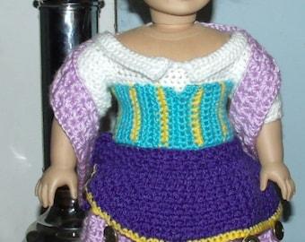 18 inch American Girl Crochet Pattern - Esmerella