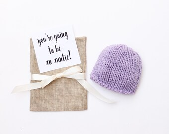 Pregnancy reveal, baby reveal, new baby, newborn hat, baby girl, pregnancy announce, birth announcement, auntie, grandparents, baby