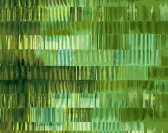 Lines Green Culture Shock Studio E Fabric 1 yard