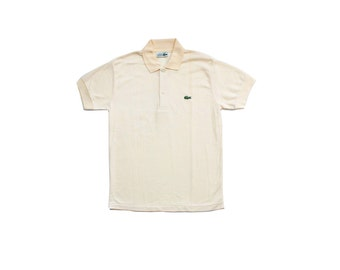 1980's Lacoste Made in France Custard Yellow Polo Shirt