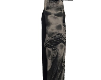 Vintage Goddess Statue Dress Jean Paul Gaultier - 1990s sheer