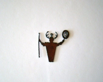 Shaman Recycled Metal Pendant Cutout (Limited Addition)