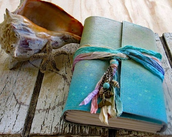 Mermaid Journal - mermaid seashells beach vacation journal