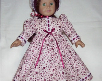 OLD FASHION PIONEER Dress for American Girl and other 18 inch dolls