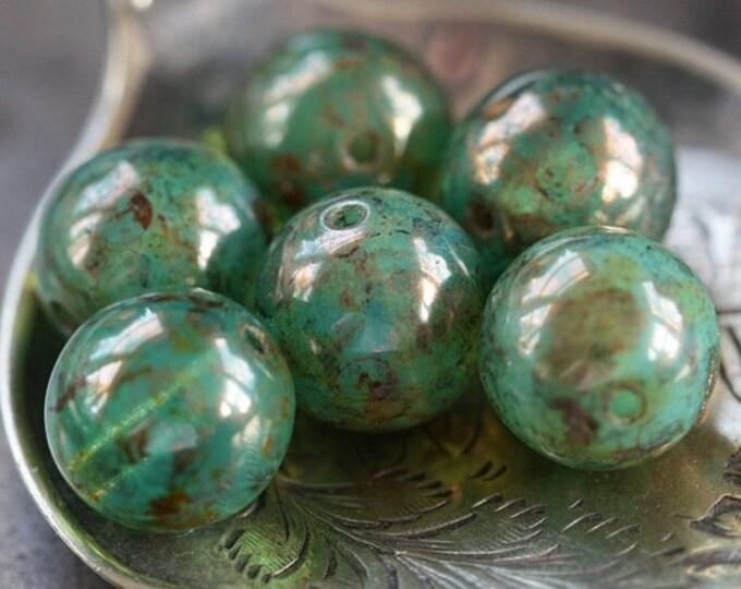 OCEANIC .. 10 Picasso Czech Glass Druk Beads 10mm (3291-10)
