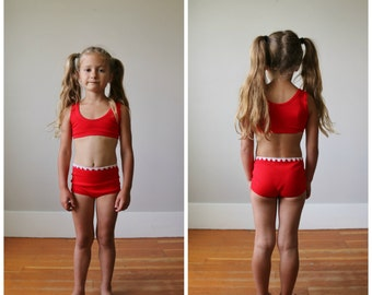 NOS, 1960s Athletic Bikini >>> Girls Size 4t/5t