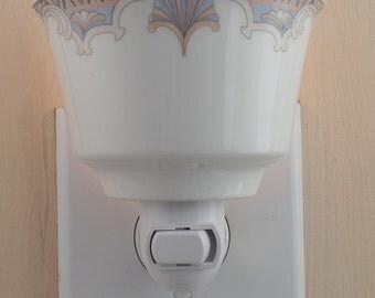 Syracuse Royal Rideau Pattern  Fine China Tea Cup Custom Made Night Light