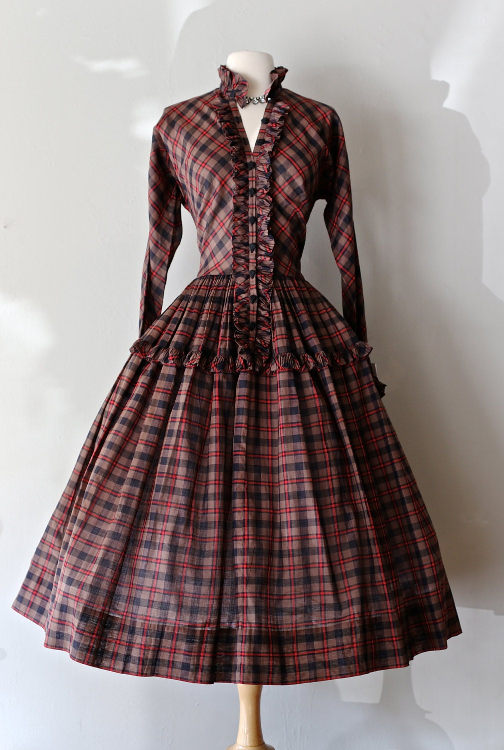 Rare 1950s Claire Mccardell Dress Vintage 50s Plaid Dress