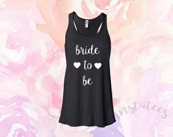 Black Bride to be Tank top Bachelorette Party Bride Gift Idea