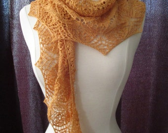 Golden Orchids lace scarf