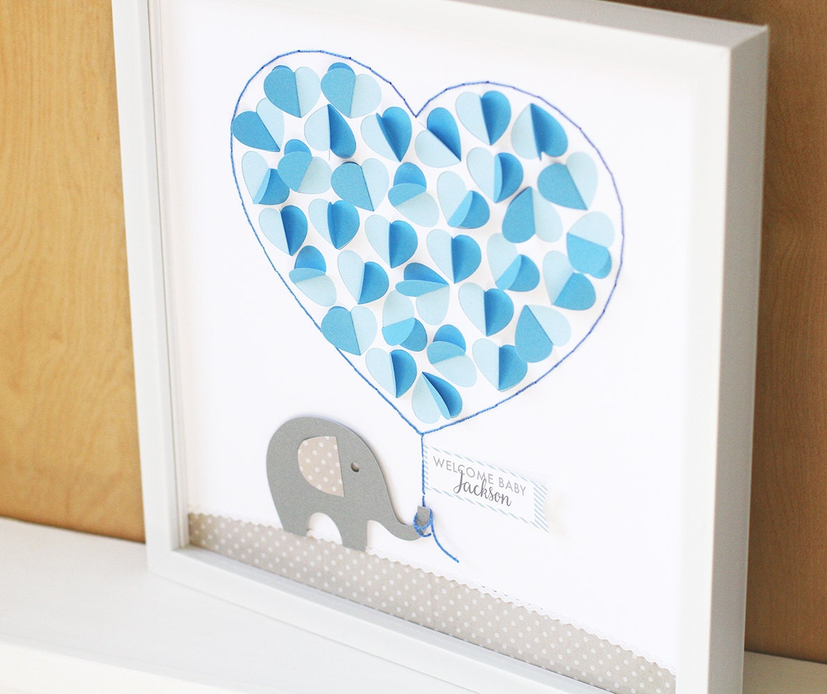 baby shower guest sign in baby shower gift elephant nursery