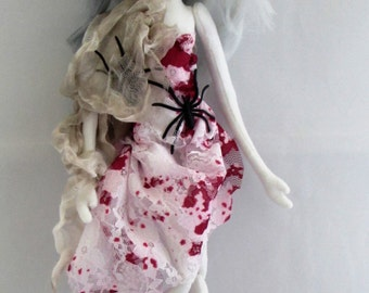 GHOST, The original soft sculpture Kaerie Faerie art doll, handmade in the USA