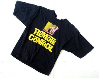 Vintage MTV Shirt / MTV Remote Control T-Shirt / 80s T Shirt / L XL