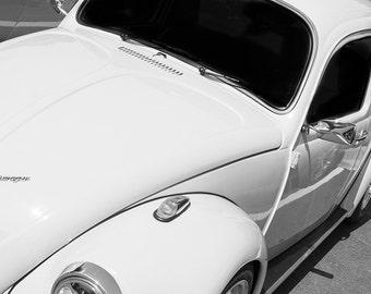 Vintage Volkswagen Beetle Car Photography, Automotive, Auto Dealer, Classic, Muscle, Sports Car, Mechanic, Boys Room, Garage, Dealership Art
