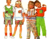 523 Simplicity 9728 Boys & Girls Pullover Tops Tank Top Shirt Pull-on Pants Shorts Childs sizes 3 4 5 6 6X Easy Vintage Sewing Pattern Uncut