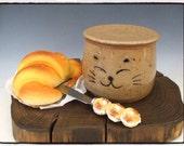 Reserved List-Fresh Tasting Butter in your Lovely Tabby Cat Butter Crock by misunrie