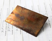 1892 Knight's Templar Copper Calling Card Plate, Freemason Memorabilia, J. Albert Wood, Vintage Lettering, Wilmington Delaware