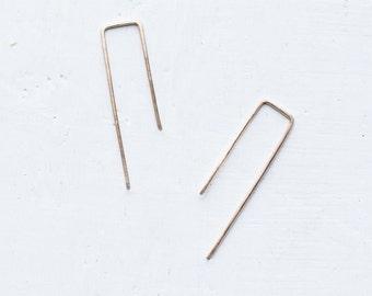 Minimal Gold Filled Wire Earrings / Mini Earrings / Modern Earrings