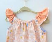 Peachy Keen Flutter Sleeve Baby Toddler Girls' Dress