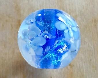Destash - Blue Encased Glass Focal Bead