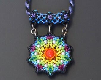 Rainbow Mandala Pendant