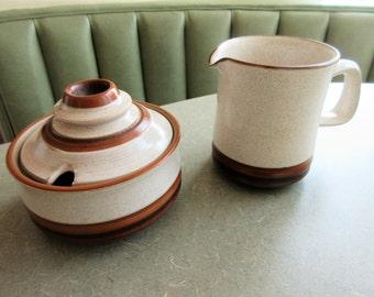 Vintage Denby Pottery Sugar and Creamer, Denby Sahara, Denby Milk Jug, Made in England, Denby Sugar Bowl, Stoneware, Denby Jug and Bowl