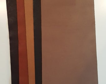 """9""""x23"""" Full Grain Leather pieces Mixed lot Guacholin"""