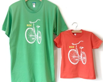 Matching Bike Family Shirts, Father Son Matching Shirt Onesie, Father Child Shirts, Dad Baby Matching Shirts, Baby Boy Clothes, Father's Day