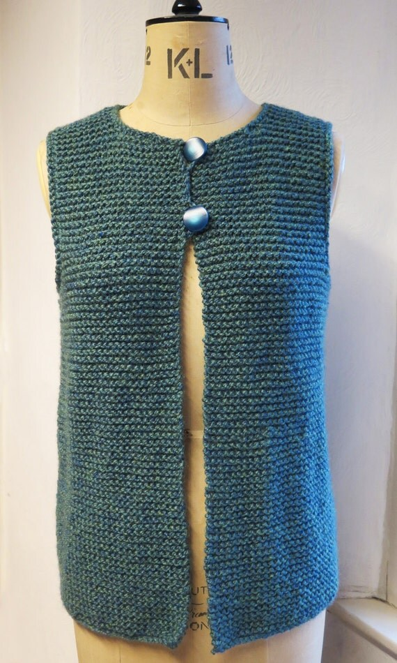 Easy Gilet Knitting Pattern : Adult Gilet Waistcoat JerkinEasy Knitting Pattern PDF