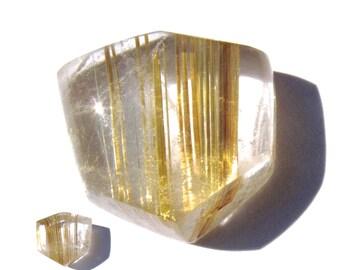 Brazilian Golden Rutilated Quartz Cabochon