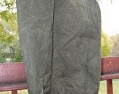 reserved for robert US Military Green Duffel Bag, Estimated 1950's Era