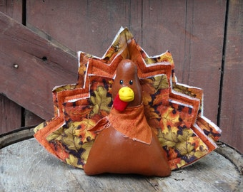 Turkey doll ornie stuffed thanksgiving fall decoration