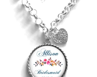 Bridesmaid Necklace, Wedding Day Necklace, Gift for Bridesmaid, Keepsake Necklace Style (656)