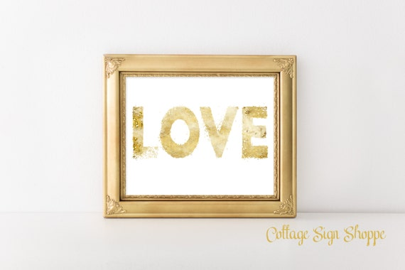 LOVE, Wedding Decor, Wedding Art, DIY Wedding Decor, Grunge Art, Gold Grunge Art, Love Wall Art, Couples Wall Decor, Instant DOWNLOAD,