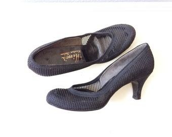 1950s heels / mesh pumps / Calender Girl heels