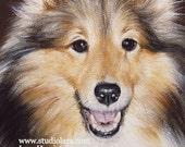 CUSTOM Pet Portrait Miniature Painting in OIL by Lara ACEO 3x4 Mini Tiny Dog Art