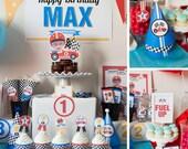Race Car Birthday, Photo Race Car Party Kit, Race Car Theme, Cars Birthday, Race Car Collection, Party Printables, Party Kit