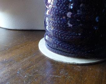 7 yds. Violet Purple Sequins for Lyrical Dance, Bridal, Costumes, Garments, Crafts